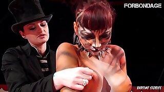 FORBONDAGE - Femdom Circus Punishment For A Big Ass Teen Babe (Leah Doubtful & Alissa Noir)