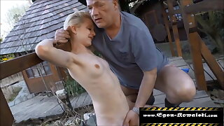 Skinny Teen from Neighborhood fucked