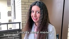 Anal Sexual intercourse For Money Wide a Young Neighbor Katty West