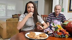 XXX PILL MEN - Young Kharlie Stone Takes Geriatric Cock In Her Orifaces
