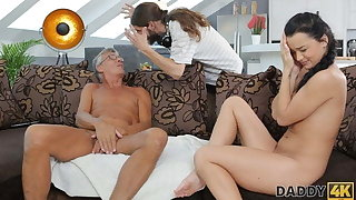 DADDY4K. Old abb� lured into unplanned sex with son's excited girlfriend