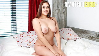 CASTING FRANCAIS, Busty Canadian Sabrina C Takes It Rough