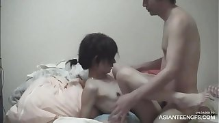 Unprofessional Japanese girlfriend's leaked homemade sexual congress flick