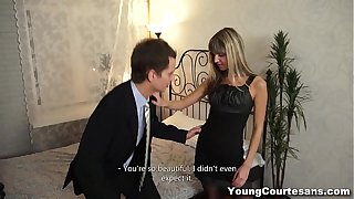 Young Courtesans - Dressed give Gina Gerson be incumbent on a client teen-porn