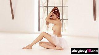 Flexible ballerina Ilvy Kokomo presents her selfish body