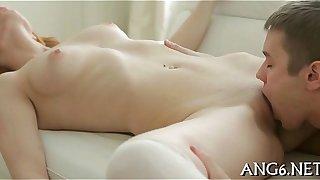 Licking beautys bald wet crack