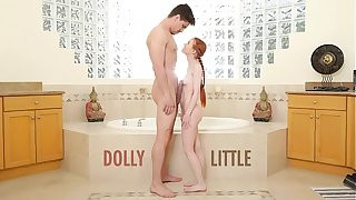 ABUSE ME - Redhead Teen Dolly Little Gets Ravaged By Bruce Pursuit