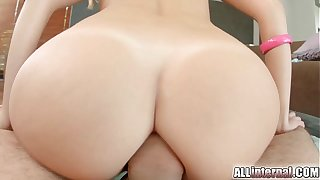 All Internal Mint amateur gets anal creampie after hard ass fuck