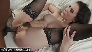 Husband lets Wife Enjoy BBC Interracial Chubby Dick Blowjob