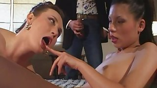 Misbehaving girls hot threeway porn video