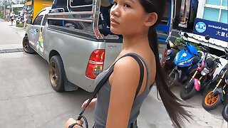 Verifiable amateur Thai teen cutie fucked after lunch by temp BF
