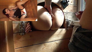 Highway slut Melina May gets fucked by everyone. CREAMPIE!!!