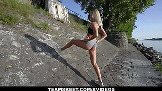 Hot Quarter Gal Angelika Grays Works Out On Her Trainer's Cock